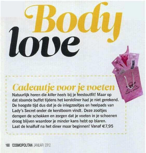 Cosmopolitan Lady's Secret artikel