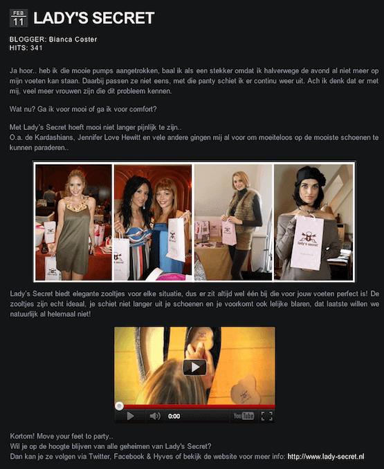 Lady's Secret inlegzolen Fashionblogger